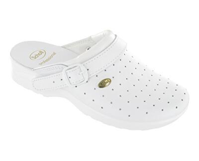 Scholl Zdravotná obuv Clog Racy byc-U - biela - ZĽAVA - drobne ušpinené podrážky