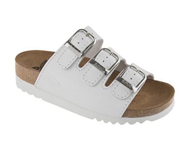 Scholl Zdravotní obuv RIO WEDGE AD Lea-W - bílá
