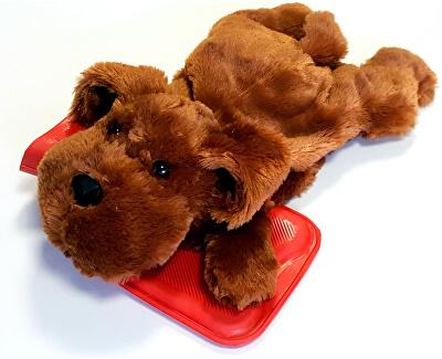 Termofor dětský Pes tmavě hnědý
