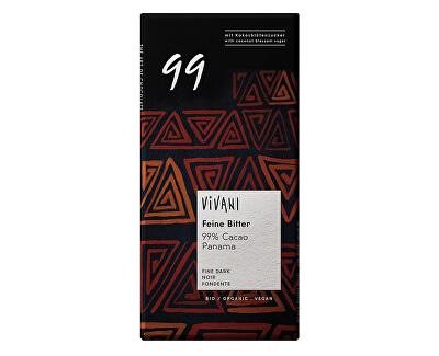 VIVANI Bio hořká čokoláda 99% s kokosovým cukrem VIVANI 80 g