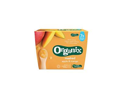 Organix Bio jablečno-mangová přesnídávka 4x95g, min.trv. 22.8.2018