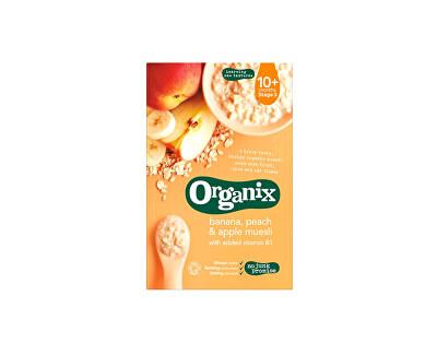 Organix Bio muesli s banány, broskvemi a jablky 200g