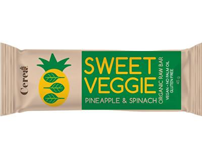 Cerea Bio tyčinka SWEET VEGGIE Ananas & Špenát raw 45g