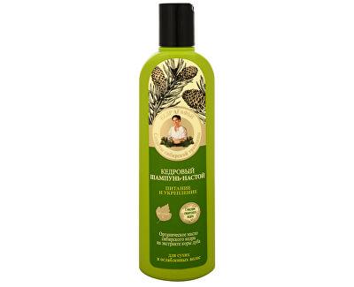 Babushka Agafia Cedrový šampon na vlasy posilující 280 ml