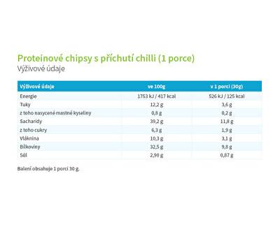 Proteínové chipsy s príchuťou chilli 30 g