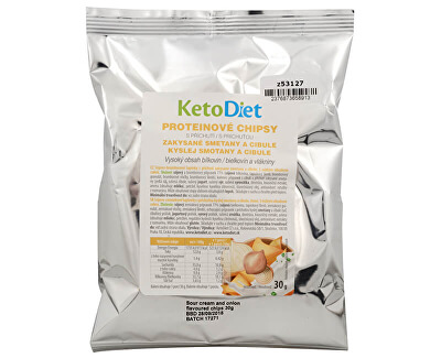 Proteínové chipsy s príchuťou kyslej smotany a cibule 30 g