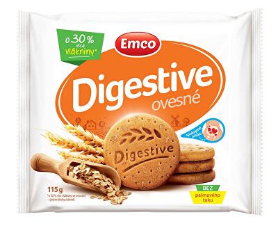 EMCO Digestive Ovesné 115g - křehké sušenky