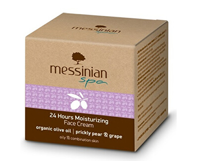 Messinian Spa Hydratační krém na obličej s 24 hodinovým účinkem opuncie & hroznové víno 50 ml