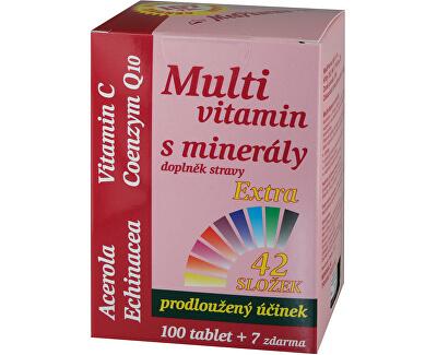 Multivitamín s minerálmi + extra C 107 tablet