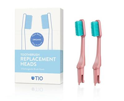 Tio Náhradní hlavice k zubnímu kartáčku (ultra soft) 2 ks - korálově růžová