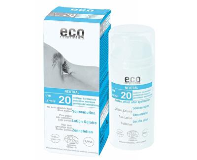 Eco Cosmetics Opalovací krém Neutral bez parfemace SPF 20BIO 100 ml