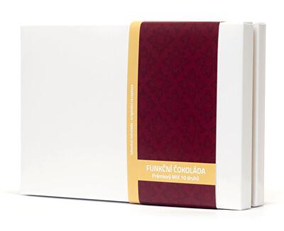 Vitalo Prémiový mix 10 druhů - variety pack - funkční čokolády 100 g (10 x 2 ks)
