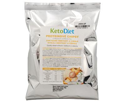 KetoDiet Proteínové chipsy s príchuťou kyslej smotany a cibule 30 g