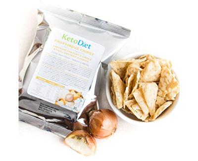 Proteinové chipsy s příchutí zakysané smetany a cibule 30 g