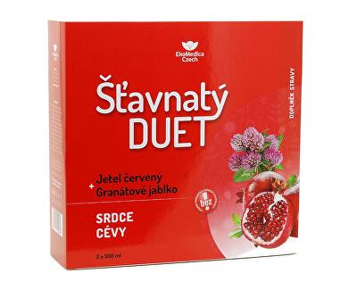 EkoMedica Czech Šťavnatý duet červený jetel + granátové jablko 2 x 500 ml