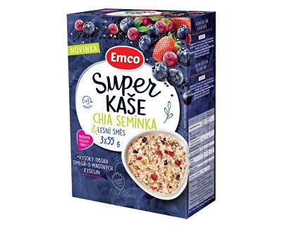 EMCO Super kaše Chia semínka & lesní směs 3x55g