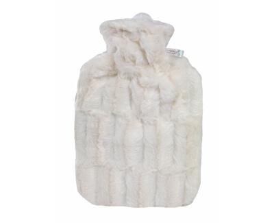 Hugo-Frosch Termofor Classic s obalem z umělé kožešiny - bílý s podšívkou