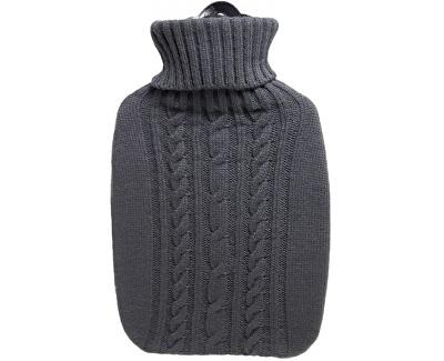 Hugo-Frosch Termofor Classic s pleteným obalem - šedý