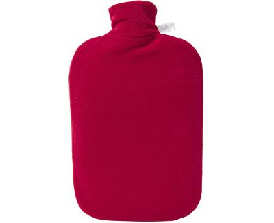 Hugo-Frosch Termofor Eco Classic Comfort s fleecovým obalem - červený