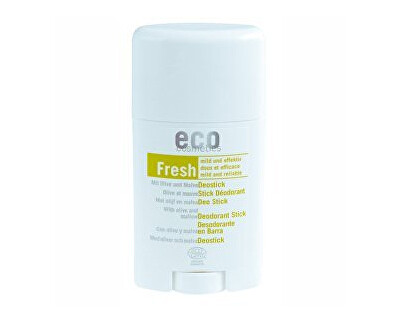 Eco Cosmetics Tuhý deodorant BIO s olivovým listem a slézem 50ml