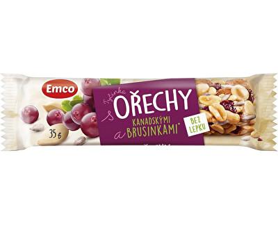 EMCO Tyčinka Ořechy a brusinka 35g