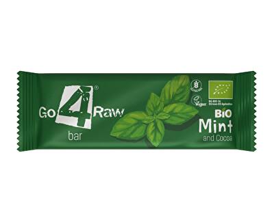 GO4RAW Bio tyčinka MINT&COCOA 25g