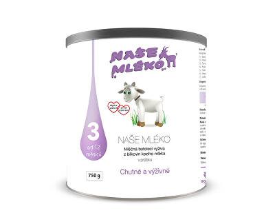 Goldim Naše mléko 3 (12 m+) 750 g