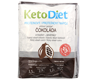 KetoDiet Proteinový nápoj příchuť čokoláda 7 x 27 g