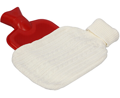 BeautyRelax Termofor ohřívací láhev s návlekem BR-495B Bílá