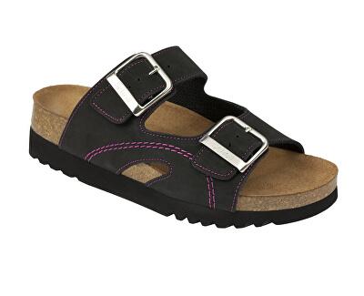 Scholl Zdravotní obuv MOLDAVA WEDGE AD - černá/fuchsiová