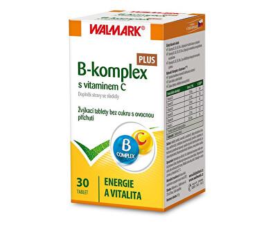 Walmark B-komplex Plus s vitamínem C 30 žvýkacích tbl.