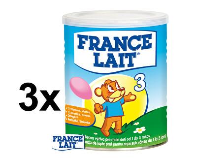 France Lait Mléčná výživa na podporu růstu pro děti od 1 roku 3 x 400 g