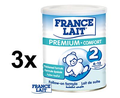 France Lait Kojenecké mléko Premium Comfort 2 3 x 400 g