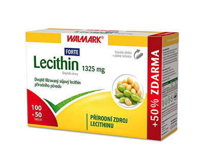 Walmark Lecithin Forte 1325 mg 100 tob. + 50 tob. ZDARMA