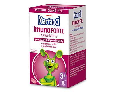Marťánci Marťankovia ImunoForte príchuť čierny bez 30 cmúľacích tbl.