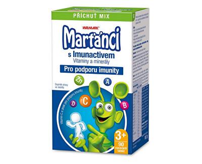 Marťánci Marťánci s Imunactivem příchuť MIX 90 tbl.