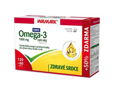 Walmark Omega 3 rybí olej Forte 120 tob. + 60 tob. ZDARMA