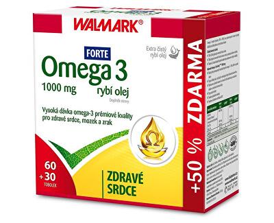 Walmark Omega 3 rybí olej Forte 60 tob. + 30 tob. ZDARMA