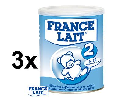 France Lait Pokračovací mléčná kojenecká výživa 6 - 12 měsíců 3 x 400 g