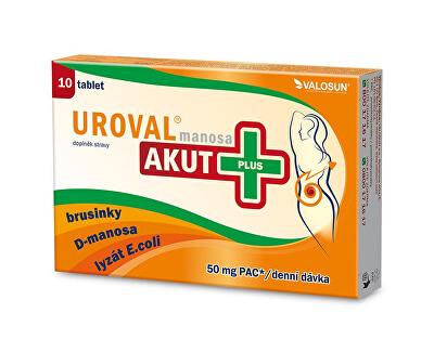 Uroval Uroval manosa Akut+ 10 tbl.