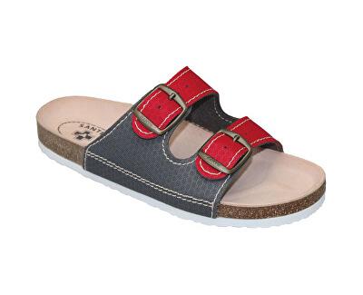 SANTÉ Zdravotní obuv dámská D/21T/911/910/BP červeno-šedá
