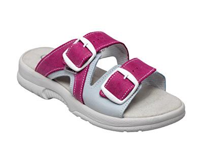 Zdravotní obuv dámská N/517/55/079/016/BP růžovo-šedá