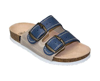 Zdravotná obuv detská D / 202/86 / S12 / BP modrá (veľ. 27-30)