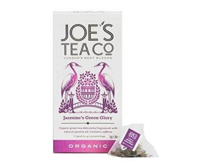 Joe´s Tea Co. Zelený čaj s jasmínem BIO 15 pyramidek