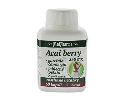 MedPharma Acai berry 250 mg + Garcinia cambogia + jablečný pektin 60 kapslí + 7 kapslí ZDARMA
