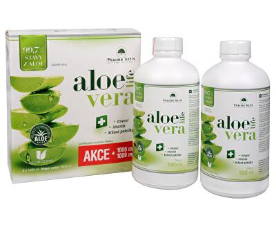 Pharma Activ AloeVeraLife 1 + 1 ZD ARMA (1000 ml + 1000 ml) + zadarmo šál