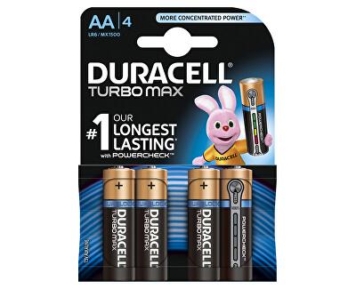 Duracell Baterie Turbo MAX AA 1500 K4 Duralock