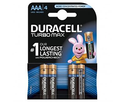 Duracell Baterie Turbo MAX AAA 2400 K4 Duralock