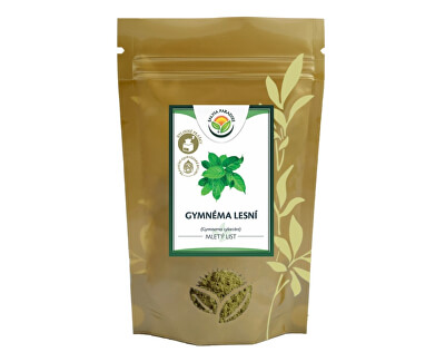 Salvia Paradise Gymnéma lesní list mletý BIO 100 g<br /><strong>Gymnéma lesní list mletý</strong>