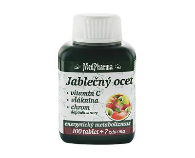 Jablečný ocet + vitamín C + vláknina + chrom 100 tbl. + 7 tbl. ZDARMA